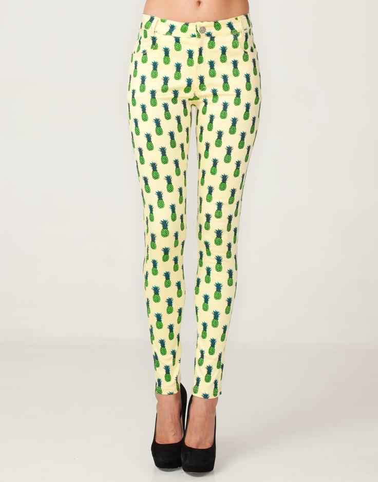 My new pants! <3: Repeat Pineapple, Pineapple Clothing, Focus Pineapple, Motel Pineapple, Pineapple Prints, Pineapple Jeans, Pineapple Pants