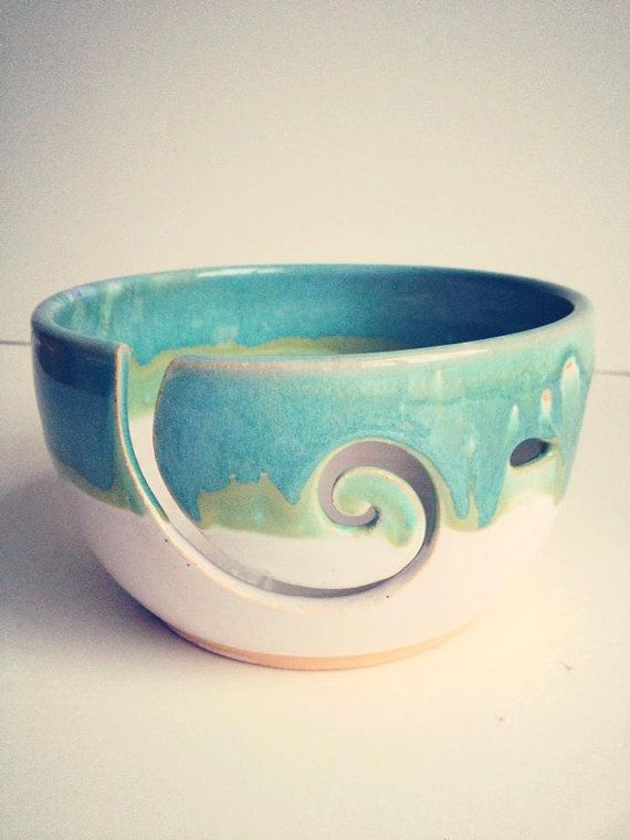 This listing is made to order and it takes 3 to 4 weeks to ship! I have been asked to make some yarn bowls for a while now and I finally