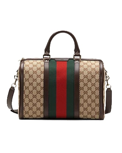 Gucci vintage web medium boston signature bag