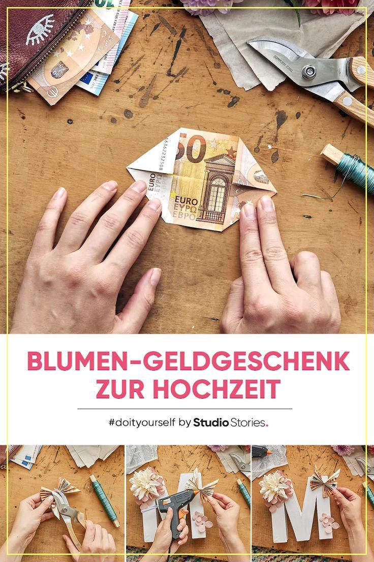 Kreatives Geldgeschenk falten. Origami-Schmetterling mit DIY Anleitung.