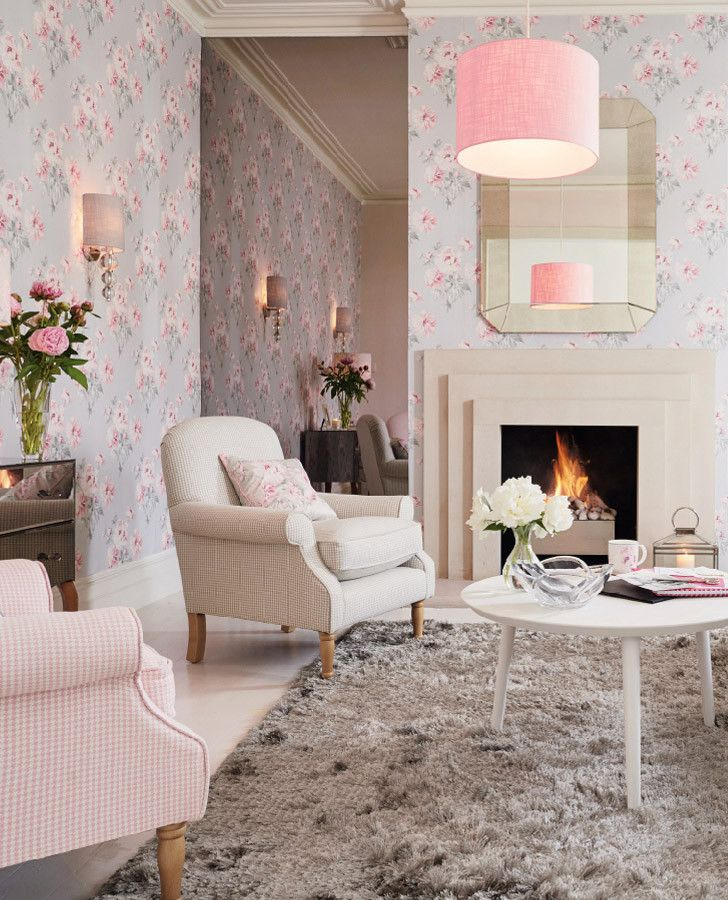 Laura Ashley | Beatrice Cyclamen Floral Wallpaper | Autumn Winter 2015 Collection #LauraAshleyHome