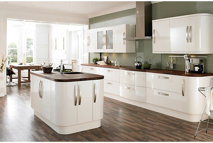 cooke lewis high gloss cream kitchen ranges kitchen