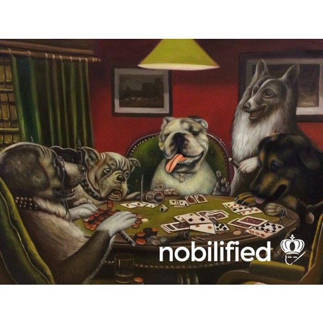 When you get together with your dogs to play some poker.  This is your world, who will you be?