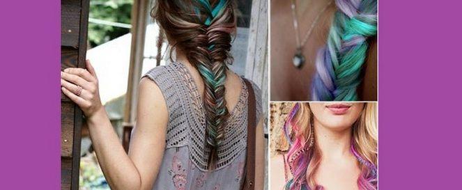 Zo creëer je de dip dye look met haarkrijt >> klik op de foto voor Nederlandstalige tutorial