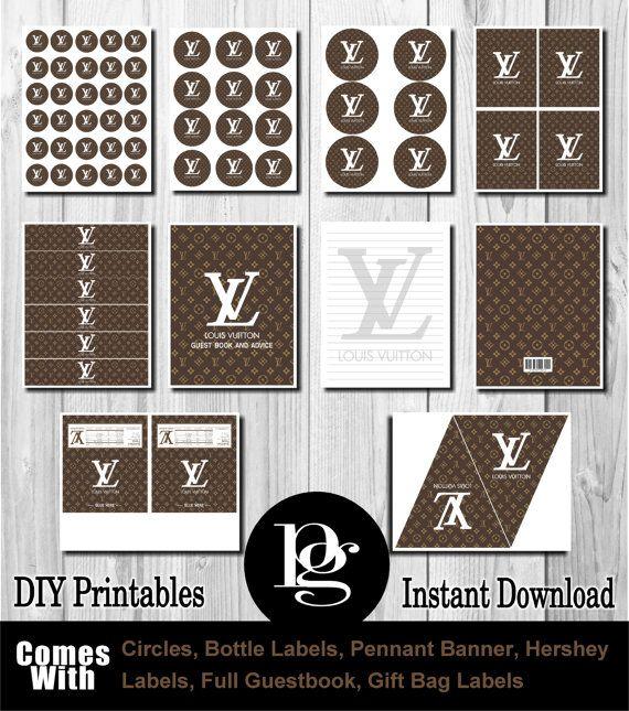 Louis Vuitton Party Louis Vuitton Printable by PlatinumGraphics