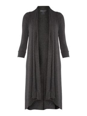 DKNY 3/4 sleeve cosy waterfall cardigan Grey - House of Fraser