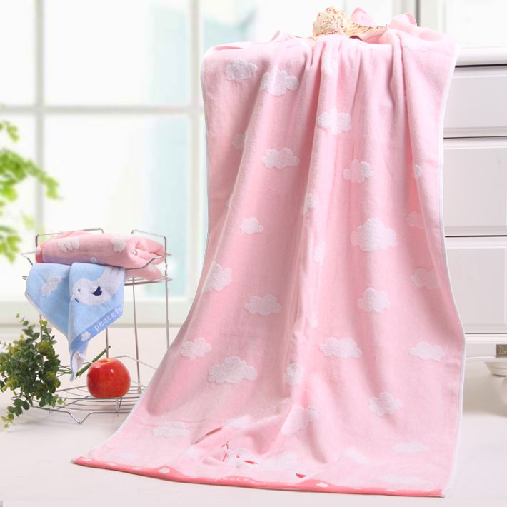 quality cotton Luxury newborn baby bath towel kids beach towel baby Wrap towel 120X64cm G3289WH