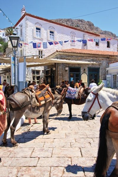 Taxi is waiting in Hydra Island, Greece-The NO Car allowed island