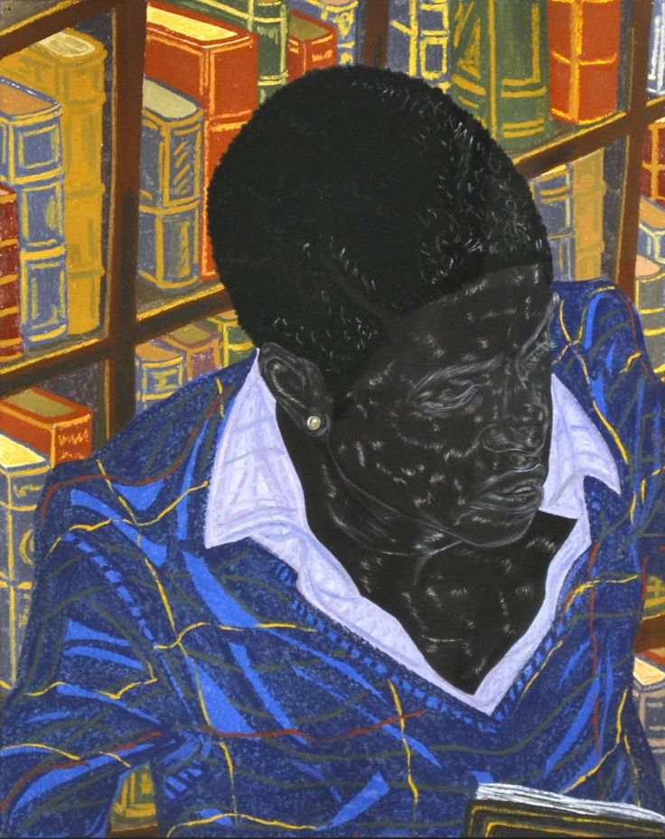 Toyin Ojih Odutola, Michaelmas Term, 2016. charcoal, pastel and pencil on paper. 24 x 19 inches (paper). 31 1/8 x 26 1/8 x 1 1/2 inches (framed). ©Toyin Ojih Odutola. Courtesy of the artist and Jack Shainman Gallery, New York.