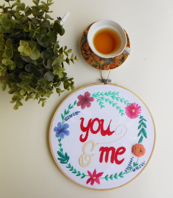 valentines embroidery hoop art valentines day gift personalize embroidery modern embroidery wall hanging valentines day decor wall art