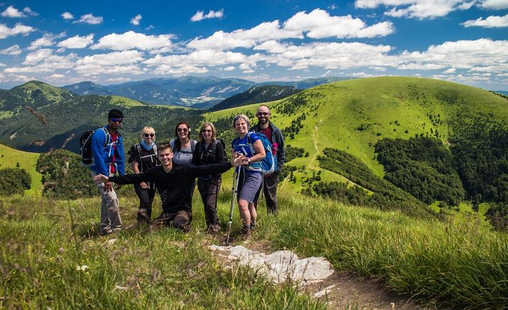 At the top of Borisov in the Great Fatra mountains