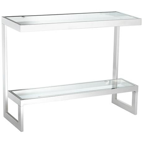 Exquisitely Designed And Crafted, This Ultra Modern Console Table Features  A Top And A