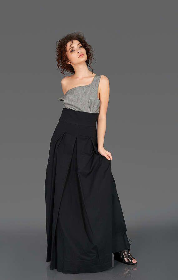 Long Black Skirt, Plus Size Skirt, High Waist Skirt, Black Party Skirt, Long Maxi Skirt, Pin Up Skirt, Flared Skirt, Floor Length Skirt