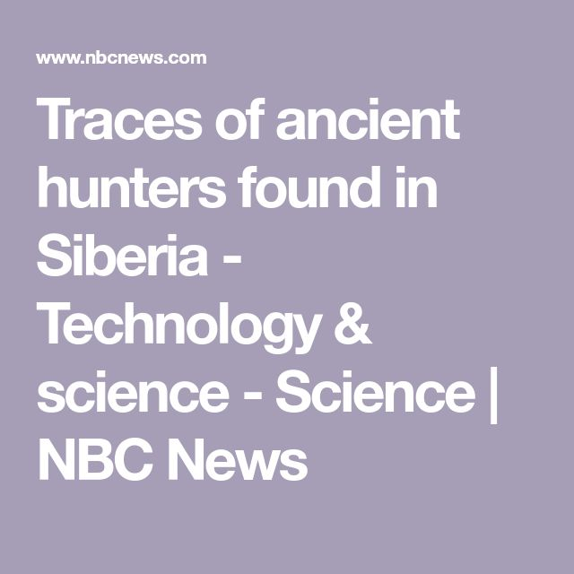 Traces of ancient hunters found in Siberia