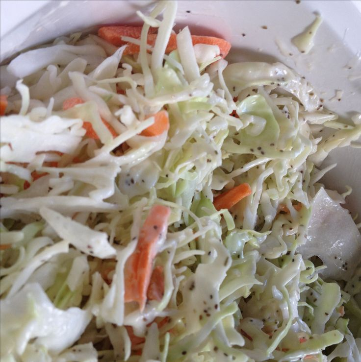 Low Carb Coleslaw (use purple cabbage for more nutrients)