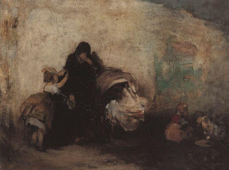.:. Γύζης Νικόλαος – Gyzis Nikolaos [1842-1901] Η γιαγιά κοντά στην κούνια