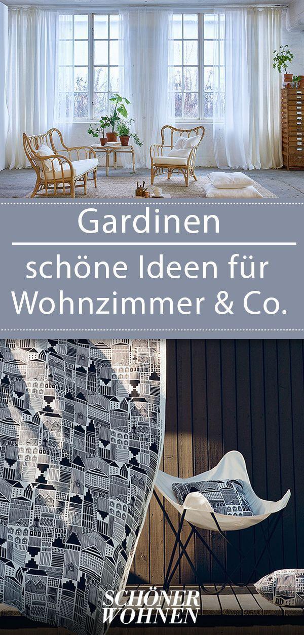 Gardine Idee Fenstergestaltung Schonerwohnen Tipps Curtains Living Room Living Room Scandinavian Home Living Room
