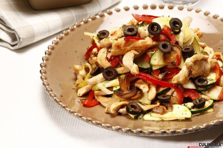 Receita de Peito de frango colorido. Descubra como cozinhar Peito de frango colorido de maneira prática e deliciosa com a Teleculinária!