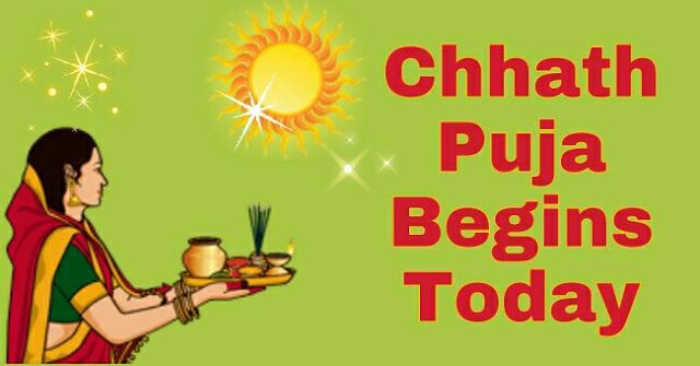 Chhath Puja Begins Today - All Details Here   Chhath Puja Day 1 -  4th November 2016 (Friday) Chaturthi Nahay Khay Sunrise at 06:35 Sunset at 17:34  Chhath Puja Day 2 5th November 2016 (Saturday) Panchami Lohanda and Kharna Sunrise at 06:36 Sunset at 17:33  Chhath Puja Day 3 6th November 2016 (Sunday) Shashthi Sandhya Arghya Sunrise at 06:37 Sunset at 17:32  Chhath Puja Day 4 7th November 2016 (Monday) Saptami Usha Arghya Parana Day Sunrise at 06:38 Sunset at 17:32  Chhath Puja is dedicated…