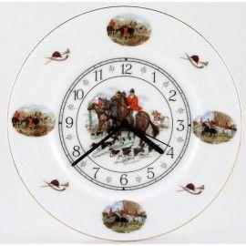 Hunt Scene 3 - Staffordshire China Clock