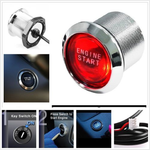 Universal-Power-Switch-Red-LED-Light-Keyless-Engine-Ignition-start-stop-buttons