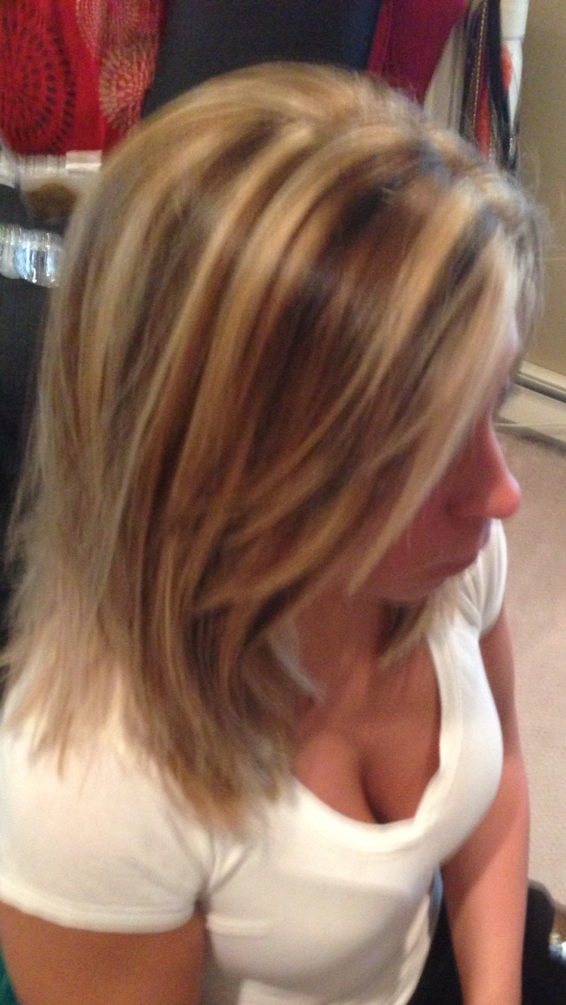 Haircolor Blonde Highlights Lowlights Contrast Hair