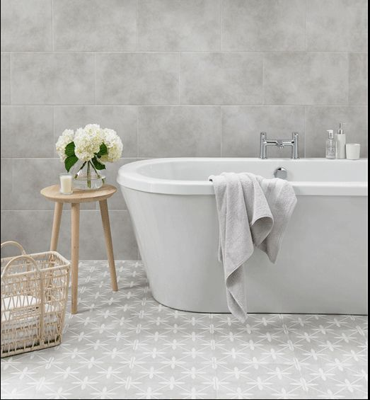 This Square X Feature Floor Tile Is Perfect For Creating A Distinctive Look In Any Room Wicker Dove Beautiful Grey Ceramic With Matt Finish And