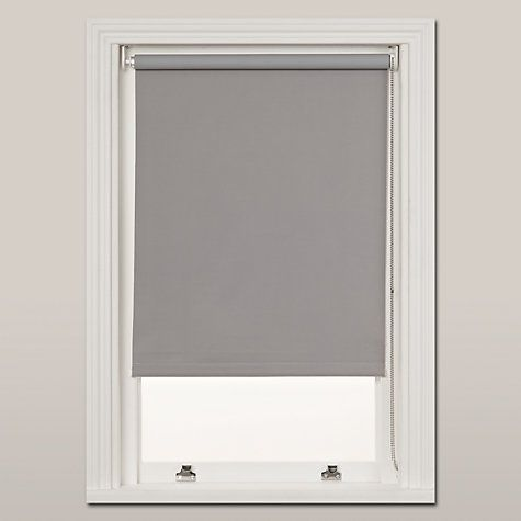 Buy John Lewis Blackout Roller Blinds Online at johnlewis.com - light grey blackout blinds 183cm w £47