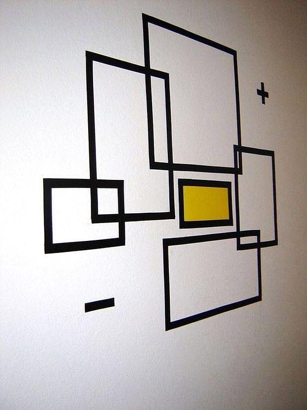 Wallpaper Dinding Desain Sendiri  21 ide membuat hiasan dinding buatan sendiri dari selotip