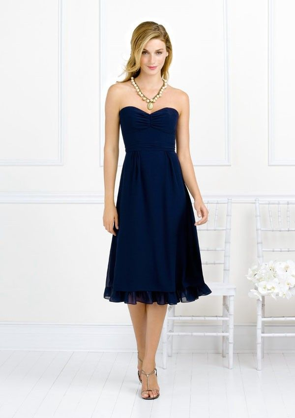 @Joanna Drabik It is a shocking deep blue short chiffon bridesmaid dress with sweetheart neckline details and lovely shape. $96.99