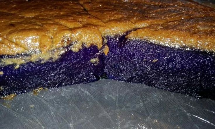 """Kalamay  POSTED IN: FILIPINO SNACKS TAGS: UBE Featured image: Ube Kalamay Topped with Latik by Angie Pastor. For orders in the Metro Manila area, 09369815475. Kalamay is a confection made with glutinous-rice flour, coconut milk, and sugar. It's been called """"sticky rice cake"""" in English."""