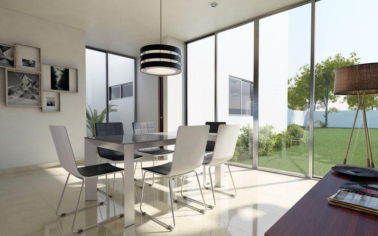 Render Cocina Interior Residencial - EVA3D