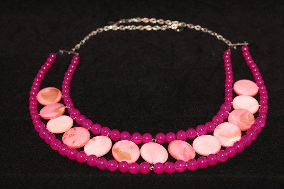 Chunky pink necklace, by NotYourMomsJewellery