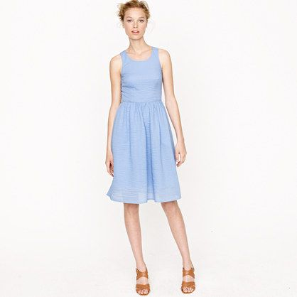 So clean and airy, in a fresh, summery blue.: Dresses Jcrew