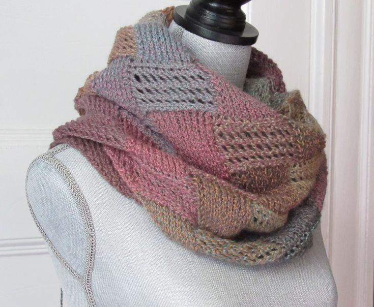 Mejores 16 imágenes de Entrelac knits en Pinterest   Patrones de ...