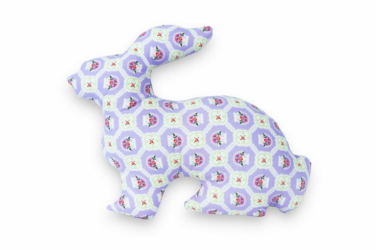 This bunny pillow friend is a wonderful décor accessory in your nursery or children's room. Hand made by Kinderly.
