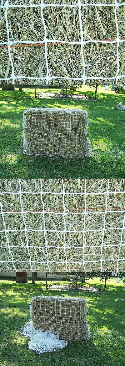 Hay Nets and Bags 159013: 16 X 10 White Square Net Nylon Horse Hay Netting 2 #42 400 Lb Test Bale Nets BUY IT NOW ONLY: $74.95