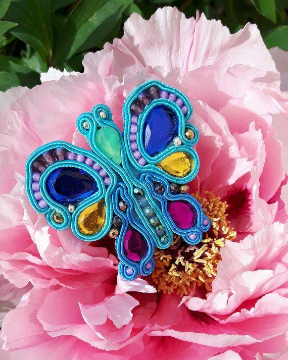 Mariposa  la spilla in soutache a forma di farfalla in di IrynArs