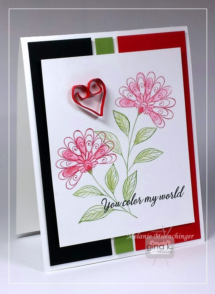 Card Making Ideas Gina K Part - 49: Sending Love StampTV Kit From Gina K. Designs. Card By Melanie Muenchinger.  All