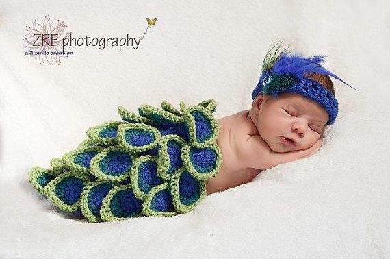 >> Click to Buy << Handmade knitting baby feather Headbands and peacock modelling cover 2pcs baby set size:0-1m,3-4m newborn Photo props clothing #Affiliate