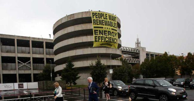 Rinnovabili sono il futuro, il messaggio di Greenpeace ai ministri europei