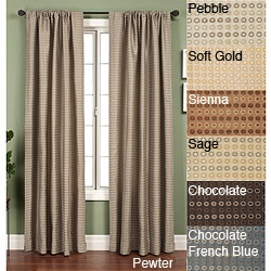 Update your home decor with a lovely new window panel  Window treatment features an elegant circle jacquard design  Curtain measures 53 inches wide x 108 inches long.  Looking at Sienna color