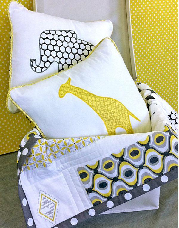Safari Applique Pillows | FaveQuilts.com