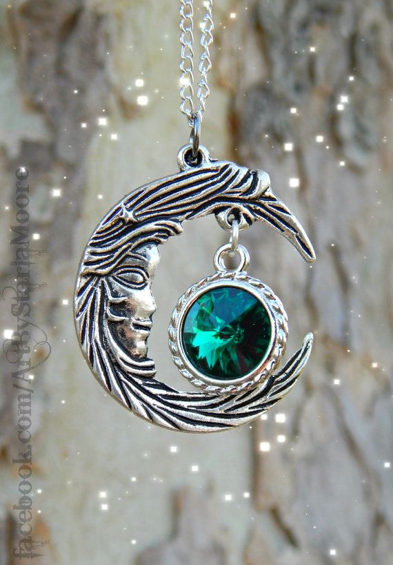 317 best chains pendent images on pinterest ancient crystal moon goddess fantasy pendant emerald aloadofball Image collections
