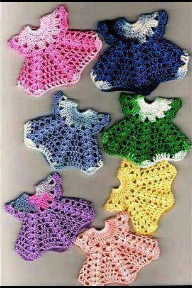 Crochet Small Dress Pattern for a Christmas Ornament, Applique, Edging, etc.