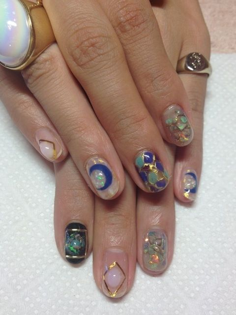 hippies dont wear nail polish because they dig in the dirt too much.  but these are pretty.