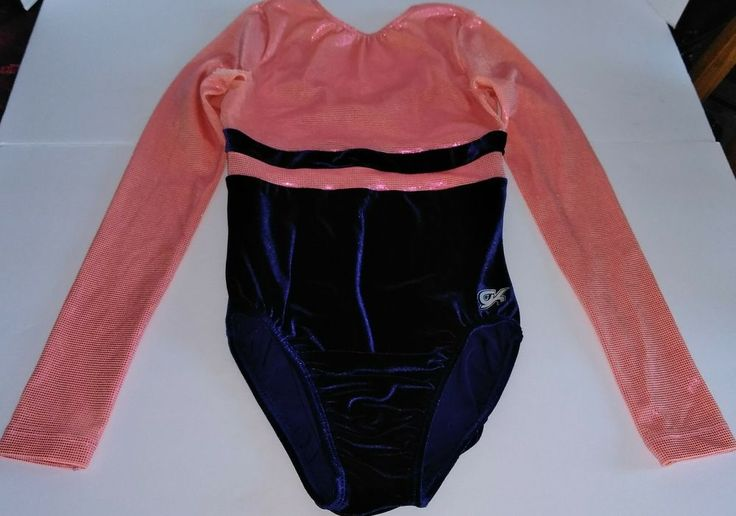 Gk Elite long sleeve gymnastics leotard adult small excellent condition AS Leo #GK