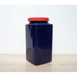 voorraadpot blauw met rood deksel Arabia