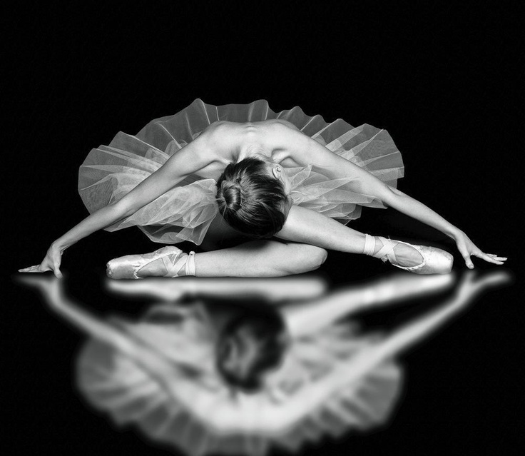 Balerina... love this stretch ISSY- need a large mirror or window for reflection