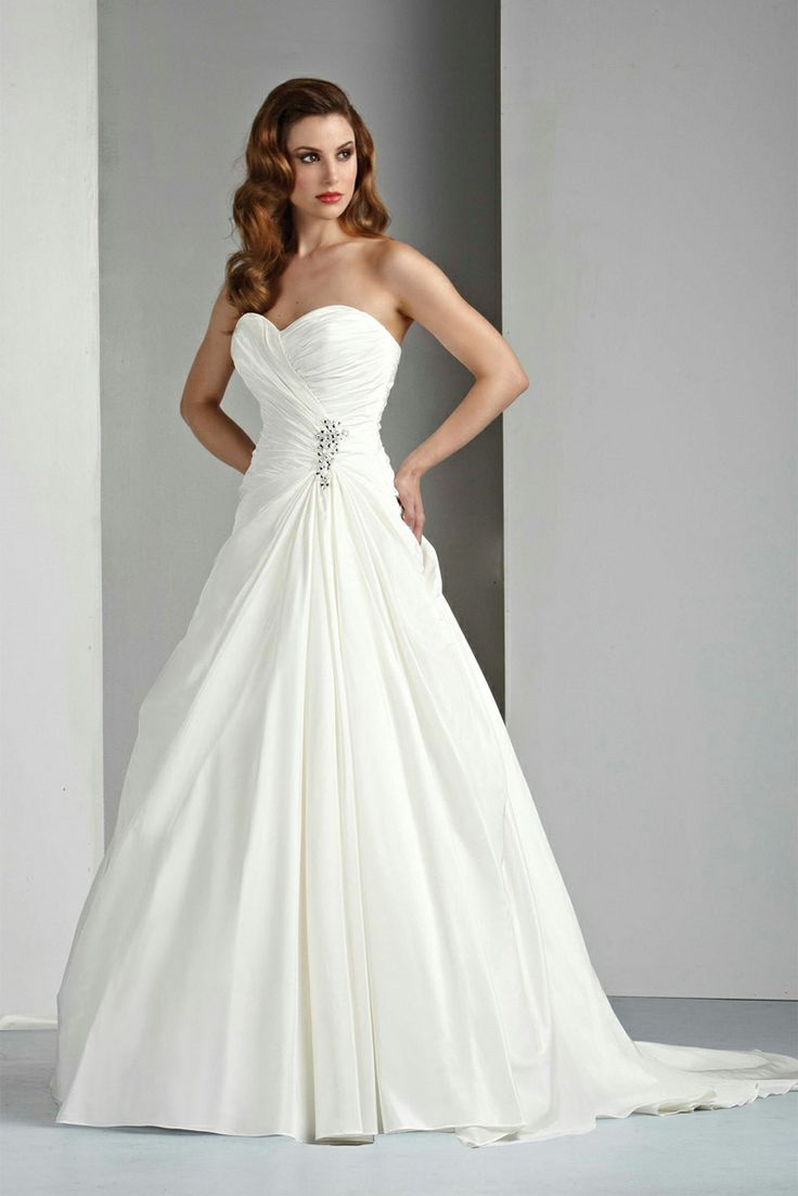 beach wedding dress, A-line Sweetheart Sleeveless